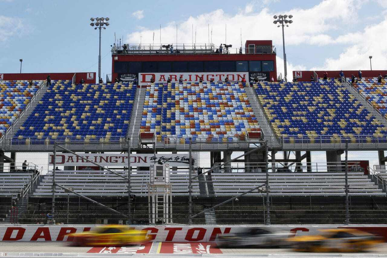 Grandstand signage opportunity at the Real Heroes 400